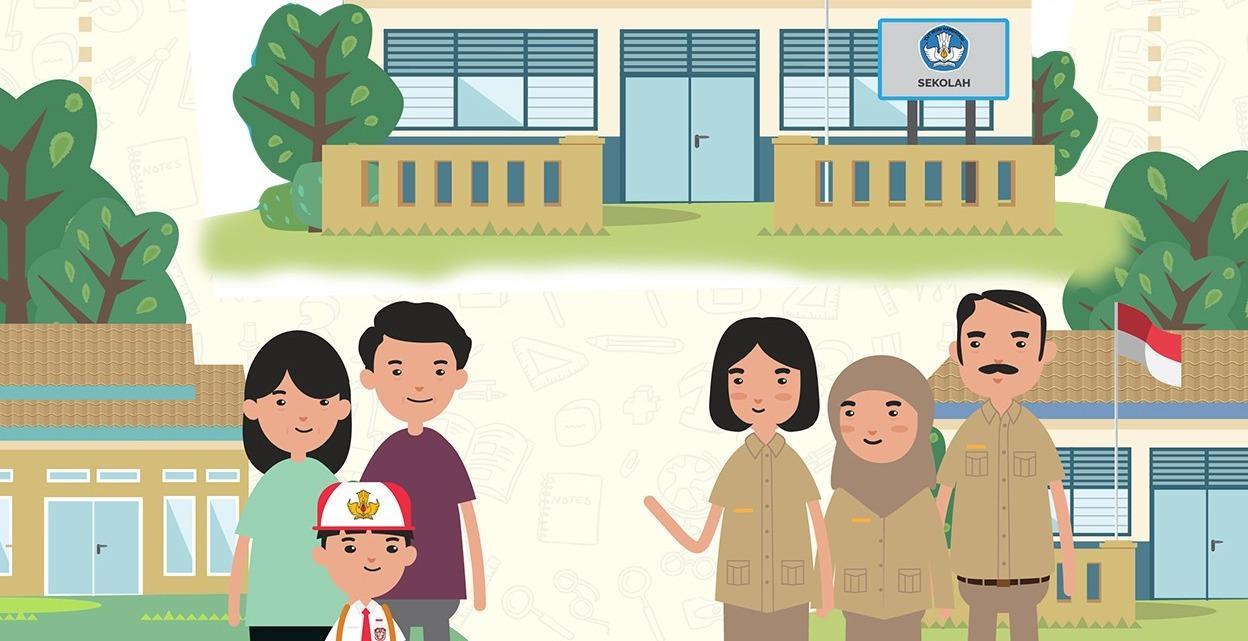 Gambar Kerjasama Di Sekolah Kartun Kerjasama Guru Dan Orangtua Dalam Mengolah Informasi Di Masa Covid